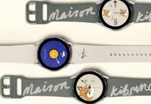 Samsung Galaxy Watch 4 Maison Kitsune Edition Images