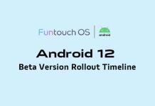 Vivo FuntouchOS Android12 Timeline